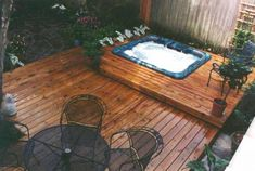 Hot Tub Built Into Deck Designs With Tubs Pictures. Saveemail multi level deck plans with hot tub two level deck ideas with hot tub. Hot tub spa decks 6 deck designs with hot tub and fire pit deck with hot tub designs. Small Backyard Decks, Hot Tub Backyard, Backyard Patio, Patio Decks, Backyard Ideas, Layout Design, Deck Design, Garden Design, Spa Design