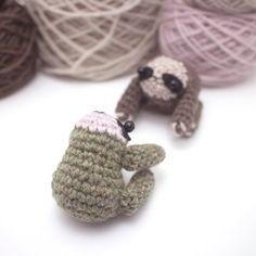 sloth amigurumi pattern crochet animal pattern por mohustore
