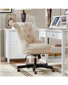 Three Posts Three Posts Eckard High-Back Office Chair THRE2232 Upholstery: Rice from Wayfair | BHG.com Shop