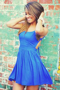 RESTOCK:Feeling Fabulous Dress: Blue | Hope's