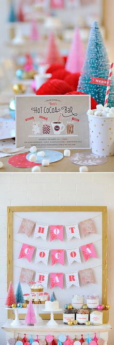 Throw a Hot Cocoa Themed Party this Holiday Season - Protpin! Winter Birthday Parties, Xmas Party, Holiday Parties, Holiday Fun, Party Time, Diy Party, Party Ideas, Hot Chocolate Party, Cocoa Party