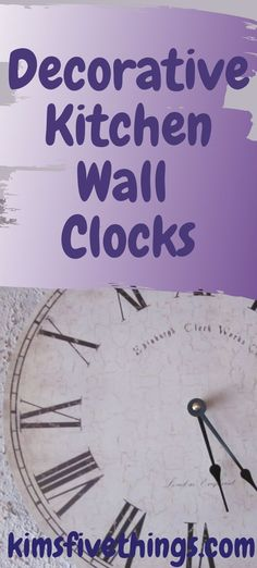 Decorative kitchen wall clock decor ideas. If you love the look of retro style then there are red kitchen wall clock 1950's style. If you are looking for something quirky then a kitchen cutlery wall clock (red or other colors) would be right up your street.   #kitchenclockideas #kitchenwalldecor #kitchendecorinspiration Wall Clock Ikea, Red Wall Clock, Rustic Wall Clocks, Clock Decor, Red Kitchen Walls, Kitchen Interior, Rooster Wall Clock, Wall Stickers Red, Ribbon Wall