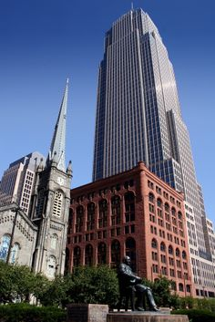 Buildings and Churches in downtown Cleveland, #Ohio