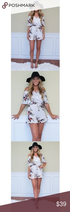 New Floral Off Shoulder Romper Playsuit S M L These photos are of the actual item, I own the rights to these photos.   AVAILABLE IN SIZES S, M & L  MODEL IS 5'7 WEARING SIZE SMALL  BRAND NEW WITHOUT TAGS NO LABEL. OFF THE SHOULDER VINTAGE FLORAL PRINTED ROMPER WITH RUFFLE HEM DETAIL, THIS ROMPER IS SURE TO DELIGHT. AVAILABLE !!  NOT SHOWPO; JUST FOR EXPOSURE. PURCHASED FROM ONLINE BOUTIQUE FOWLFOX.COM.  TAGS: SABOSKIRT SABO SKIRT SHOWPO TIGERMIST TIGER MIST HELLO MOLLY PRINCESS POLLY Dresses…