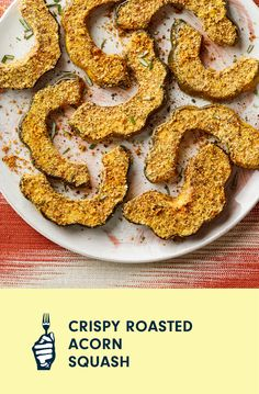 Breaded, twice-roasted, and infused with the flavors of rosemary and balsamic vinegar, these crispy chunks of acorn squash make a perfect side dish for holiday menus. No acorn squash? An equal amount of pumpkin, delicata squash, or kabocha squash will work deliciously in this recipe, too.