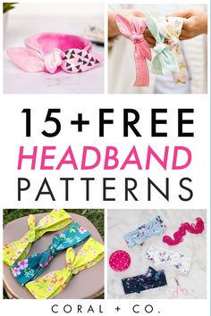 15  FREE HEADBAND SEWING PATTERNS!  These adorable knit headband sewing headbands are easy to make and a great beginner sewing project.  Find baby headband patterns and wide headband tutorials that are easy to follow and fun to make.  Click to find the big list of Amazing DIY Headband Sewing Patterns! #diyheadband #sewingpattern #beginnersewing #babysewing