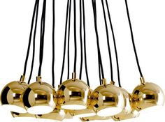 Austin Large Cluster Pendant, Brass from Made.com. Inspired by space-age interiors of the 60s and 70s, this cluster light is a stunning addition to ..