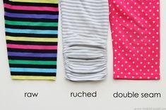 Turn long leggings into capris (3 different methods) www.makeit-loveit.com #diy #refashion #clothing