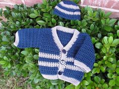 Santiago Crochet Baby Sweater - Knitting Patterns and Crochet Patterns from KnitPicks.com Baby Sweater Knitting Pattern, Boys Sweaters, Knit Picks, Crochet Patterns, Crochet Ideas, Baby Crafts, Baby Dress, Crochet Baby, Crochet Projects