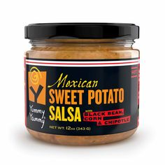 Amazon.com: Sweet Potato Salsa, Mexican *Hot* ~ Flame-Roasted with Black Bean, Corn & Chipotle; Makes Delicious Nachos, Loaded with Sweet Potato Nutrition & Amazingly Low Carb ~ No Fat, No Sweetener ~ Created by Vermont Company Yummy Yammy®