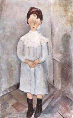Amedeo Modigliani, Niña de azul, 1918