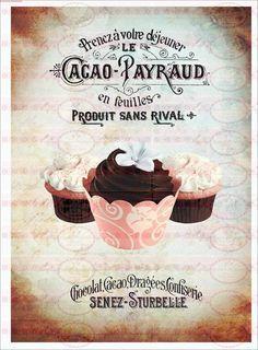 Cool B gelbild Cupcake Kuchen french Shabby