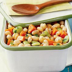 Try our snazzy Cilantro Three-Bean Salad to make a statement at any party. More no-cook recipes: http://www.bhg.com/recipes/healthy/our-best-healthy-no-cook-no-bake-recipes #myplate #beans