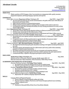 Federal Resume Examples