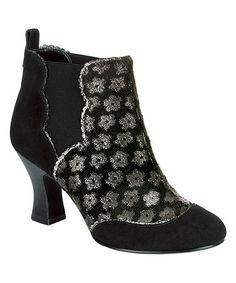 Goth meets Steampunk! Look what I found on #zulily! Black Floral-Accent Sammy Bootie #zulilyfinds