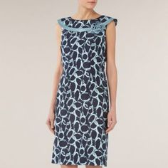 Jacques Vert Circle Print Bardot Shift Dress- at Debenhams.com Groom Dress, Debenhams, Bardot, I Dress, Mother Of The Bride, High Neck Dress, Dresses For Work, My Style, Wedding Outfits