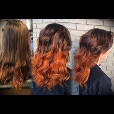 Pumpkin spice Fall Hair Balayage