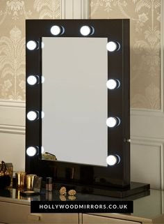 Hollywood Mirror in Black Gloss Makeup Mirror with Lights Dressing Table Mirror with Lights Vanity Mirror with Lights Illuminated Makeup Mirror Holllywood Mirror UK Light Up Makeup Mirror Hollywood Mirrors Ikea Mirror Lights, Lights Around Mirror, Makeup Vanity Mirror With Lights, Lighted Vanity Mirror, Makeup Mirror With Lights, Dressing Table With Mirror And Lights, Illuminated Mirrors, Hollywood Mirror With Lights, Mirrors