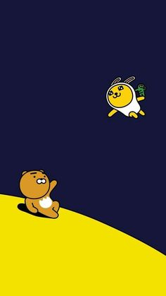 Check out this awesome collection of Kakao Friends wallpapers, with 37 Kakao Friends wallpaper pictures for your desktop, phone or tablet. Lines Wallpaper, Bear Wallpaper, Fall Wallpaper, Kawaii Wallpaper, Cartoon Wallpaper, Wallpaper Space, Wallpaper Ideas, Iphone Wallpaper, Ryan Bear