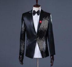 Fashion Men 039 S Bling Sequins Tuxedo Suit