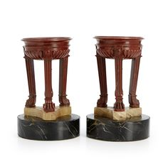 Pair of craters, Italy circa 1800, Grand Tour souvenirs, attributed to Benedetto…