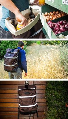 Betabrand segmented layers backpack // no more digging to the bottom - this is genius! #product_design