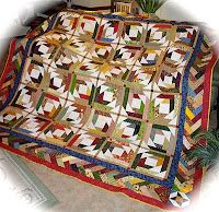 """Quilt on a mission using """"Pineapple Blossoms"""" pattern with French Braid border from Quiltville.com"""