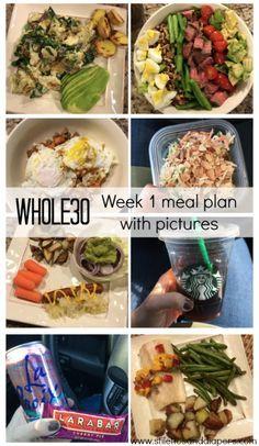 Whole 30: Week 1 Meal Plan