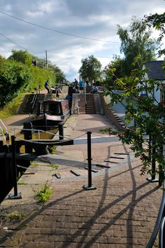 Llangollen canal staircase locks