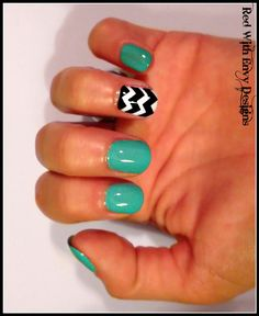 Chevron Inspired Vinyl Nail Decals Set of 20 by RedWithEnvyDesigns, $5.50