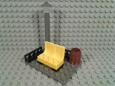 Lego Bus Stop Bench Light Post Lamp Trash Can Fences City Town Street Friends | eBay