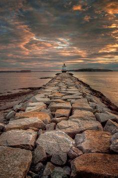 maya47000: Spring point lighthouse by Alan L. Borror