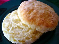Easy Sour Cream Biscuits - Quick to the table because there's no cutting of shortening into flour mixture. Just stir in sour cream, knead lightly, pat out, cut and bake.