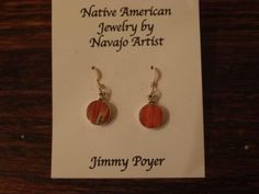 Jimmy Poyer Round Inlay Earrings