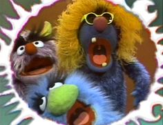 "The Frazzletones, a backup singing group of monsters, appeared on Sesame Street in 1975 singing the song ""Frazzle"" with Frazzle himself.  The Frazzletones were performed by Christopher Cerf, Richard Hunt, and Jerry Nelson. The monsters in the group are the same puppets used for the Aristocrats: Maurice Monster, an unnamed lavender monster and the early version of Harvey Monster, but with a yellow wig and glasses added (similar to Little Chrissy)."