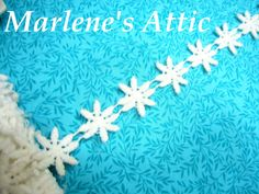 1 yard of 1 inch Vintage White daisy floral by MarlenesAttic, $1.25