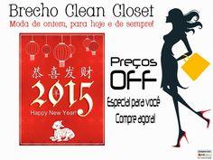 BRECHÓ CLEAN CLOSET  Roupas Seminovas: Ano Novo Chinês