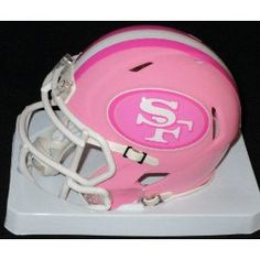 San Francisco 49ers Riddell Pink Speed Mini Helmet