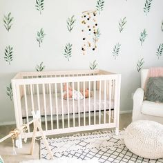 😇 just hangin' out 🌱• #babyletto Gelato crib • 📷: nursery designed by mama @megansonnamaker Room Wall Decor, Nursery Decor, Nursery Design, Nursery Ideas, Rainbow Wall Decal, Nursery Inspiration, Interior Inspiration, Project Nursery, Nursery Neutral