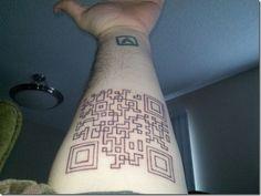 Edged QR code piece Nerdy, Nerd Tattoos