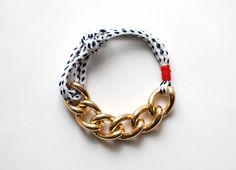 Bon Voyage Rope Bracelet - Navy & White. $20.00, via Etsy.