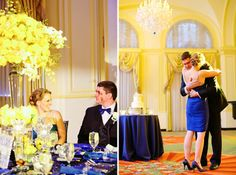 15 years of love Navy and Yellow Wedding
