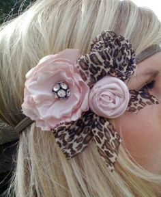 pink, leopard and rhinestone bow