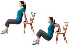 Exercícios de agachamento com cadeira são excelentes para fortalecer glúteos flácidos e caídos