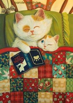 Children Illustration on Illustration Served, Artist Phoenix Chan I Love Cats, Crazy Cats, Cute Cats, Art Mignon, Sgraffito, Cat Drawing, Children's Book Illustration, Cartoon Illustrations, Your Paintings
