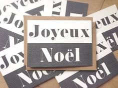 Joyeux Noel French Christmas Cards. French Class, Christmas Is Coming, Time Of The Year, Christmas Inspiration, Tis The Season, Wonderful Time, Scandinavian, Christmas Crafts, Craft Ideas