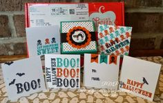 Simple Saturday: Cute and SPoOky 3x3 cards. Check these cuties on my blog today using the Boo-tiful Bags Paper Pumpkin stamp set from September 2014 Paper Pumpkin kit! #stampinup #papermadeprettier #paperpumpkin