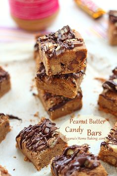 Peanut Butter Candy Bars from @RoxanaGreenGirl | Roxana's Home Baking