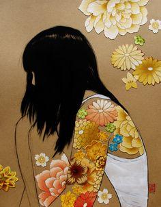 "illustratosphere: "" Flower girls series by Stasia Burrington Prints available on Etsy """
