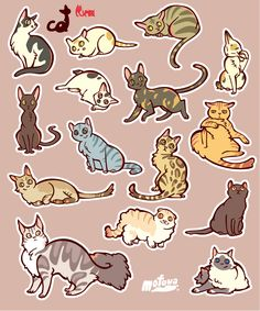 CATS sticker by mofuwa.deviantart.com on @DeviantArt